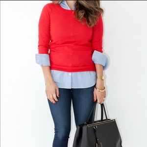 JCrew Red Cashmere Sweater